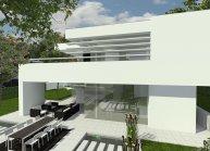 Projekt minimalistické rodinné vily v Brně