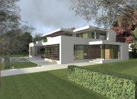 Projekt rozlehlé rodinné vily v Kladně od architekta Radomíra Grafka