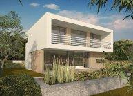 Moderní nízkoenergetický rodinný dům v Rumburku, pohled ze zahrady