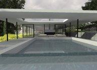 Projekt zahradního pavilonu s garáží