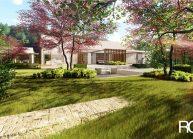 Projekt moderního rodinného domu ve Vilémově od architekta Radomíra Grafka.