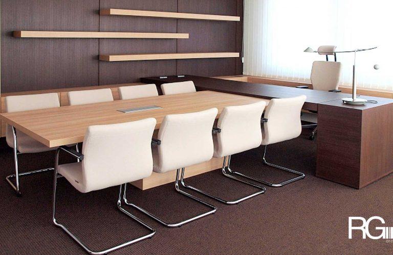 Architekt Liberec – Radomír Grafek – návrh interiéru kanceláře ředitele SEVEROCHEMA v Liberci
