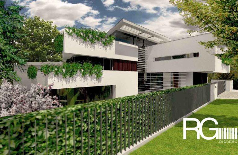 Architekt Praha – Radomír Grafek – projekt moderního rodinného domu v Praze Liboci