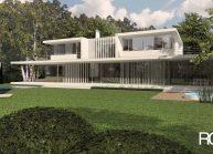 Architekt Praha – Radomír Grafek – projekt minimalistického rodinného domu u Prahy