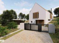 Projekt dvoupodlažního rodinného domu ve Vilsnicích u Děčína od architekta Radomíra Grafka (2).