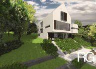 Rodinný dům od architekta Radomíra Grafka – celkový pohled na dům ze zahrady.