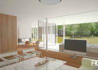 Interiér domu – obytný prostor