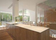 Interiér domu – pohled z kuchyňské části