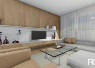 Projekt interiéru bytu v panelovém domě v Liberci od architekta Radomíra Grafka. (3)