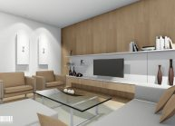 Projekt interiéru bytu v panelovém domě v Liberci od architekta Radomíra Grafka.