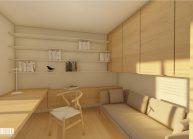 Návrh interiéru bytu vpodstávkovém domu od architekta Radomíra Grafka