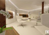 Interiér obývacího pokoje v RD v Rumburku od architekta Radomíra Grafka – vizualizace (02).