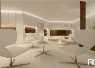 Interiér obývacího pokoje v RD v Rumburku od architekta Radomíra Grafka – vizualizace (04).
