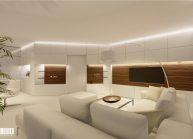 Interiér obývacího pokoje v RD v Rumburku od architekta Radomíra Grafka – vizualizace (07).