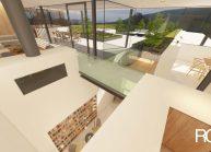 Studie interiéru loftového bytu s terasou (2)