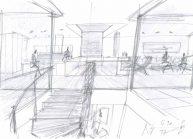 Studie interiéru loftového bytu s terasou (8)