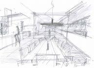 Studie interiéru loftového bytu s terasou (9)