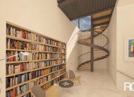 Studie interiéru loftového bytu s terasou