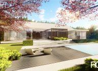 Projekt moderního rodinného domu ve Vilémově od architekta Radomíra Grafka (exteriér 2).