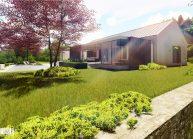 Projekt moderního rodinného domu ve Vilémově od architekta Radomíra Grafka (exteriér 4).