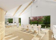 Projekt moderního rodinného domu ve Vilémově od architekta Radomíra Grafka (interiér 2).