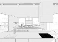Projekt jednoduchého rodinného domu v Hokovicích nad Mohelkou – vizualizace interiéru (2)