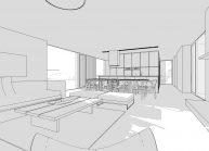 Projekt jednoduchého rodinného domu v Hokovicích nad Mohelkou – vizualizace interiéru (4)