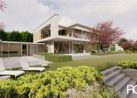 Projekt moderního rodinného domu ve Vesci u Liberce od architekta Radomíra Grafka. (4)