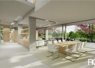 Projekt moderního rodinného domu ve Vesci u Liberce od architekta Radomíra Grafka (interiér 2).