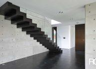 Funkcionalistická rodinná vila pod Hrádkem – detail schodiště
