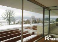 Funkcionalistická rodinná vila pod Špičákem, Varnsdorf – výhled na zimní krajinu.