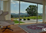 Funkcionalistická rodinná vila pod Špičákem, Varnsdorf – výhled z ložnice.