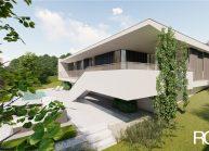 Projekt moderního rodinného domu v Jeníšovicích u Jablonce nad Nisou od architekta Radomíra Grafka. (3)