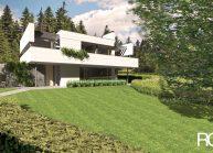 Studie minimalistického rodinného domu v Liberci od architekta Radomíra Grafka, pohled 2