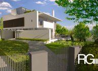 Studie rodinného domu v Liberci-Ruprechticích od architekta Radomíra Grafka z architektonického studia RG architects studio. Exteriér.