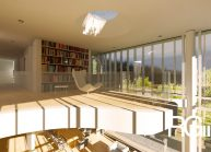 Studie rodinného domu v Liberci-Ruprechticích od architekta Radomíra Grafka z architektonického studia RG architects studio. Interiér (2)