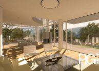Studie rodinného domu v Liberci-Ruprechticích od architekta Radomíra Grafka z architektonického studia RG architects studio. Interiér (3)