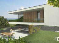 Jednoduchý minimalistický dům s plochou střechou, pohled 4