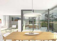 Moderní nízkoenergetický rodinný dům v Rumburku, jídelní část