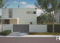 Moderní nízkoenergetický rodinný dům v Rumburku, pohled z ulice