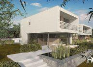 Moderní nízkoenergetický rodinný dům v Rumburku, pohled ze zahrady 2