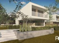 Moderní nízkoenergetický rodinný dům v Rumburku, pohled ze zahrady 3