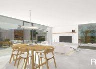 Moderní nízkoenergetický rodinný dům v Rumburku, interiér přízemí