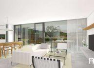 Moderní nízkoenergetický rodinný dům v Rumburku, obývací část